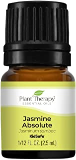 Plant Therapy 茉莉*精油 * 纯净、未稀释、天然芳香*,*级 2.5 毫升(1/12 盎司)
