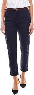 Scotch & Soda 女士长裤 常规版型 斜纹棉布裤 配有腰带