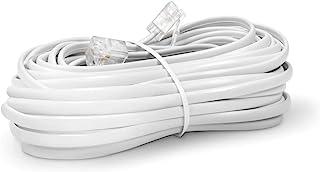 The CIMPLE CO - 电话线 - 模块化电话延长线 - 2 根导体(2 针,1 线)电缆 - 与 HP FAX、Brother AIO 和其他设备完美搭配 白色 25 Feet Cord (7.5 Meter) CMP-CBL-PH...