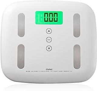 dretec(滴滤器) 体重计 BS-238 白色 BS-238WT