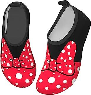 AUSMGD 面具水鞋 适合男孩和女孩 儿童速干防滑水皮肤赤脚运动鞋水袜 适合海滩游泳冲浪瑜伽锻炼