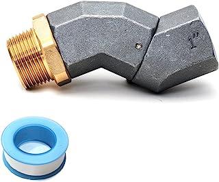 2.54 厘米燃油转移软管旋转 NPT 360 旋转接头,用于燃油喷嘴旋转,锌合金