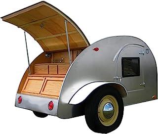 8' 泪珠露营拖车DIY计划泪滴复古露营房车打造属于您自己的风格