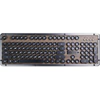 Azio 经典复古键盘 Elwood机械打字机键盘 带蓝牙的蒸汽朋克键盘 无线照明按钮 荷兰布局