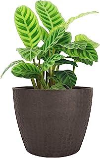 LA JOLIE MUSE 9.4 英寸(约 23.9 厘米)适用于室内和室外植物的植物,现代别致的植物,带蜂窝图案,棕色