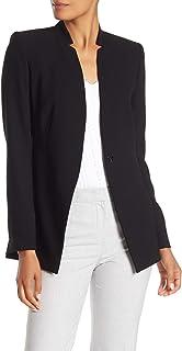 Elie Tahari 女式 Ava 倒置缺口翻领西装外套黑色尺码 10