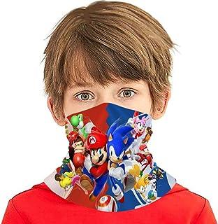 Sonic-The-Hedgehog 儿童青少年头巾防尘面罩多功能头饰巴拉克拉法帽颈套