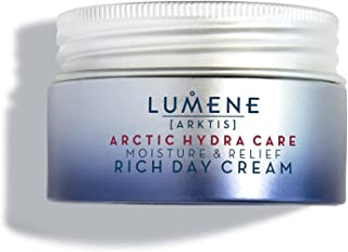 Lumene Arctic Hydra Care [Arktis] 保湿舒缓日霜,1.7 液体盎司,无香型保湿霜,适合敏感和干性皮肤