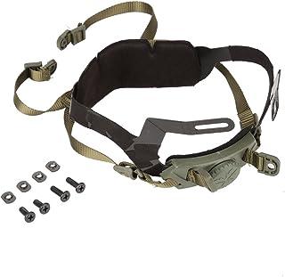 可调节头盔内衬套件头锁下巴带适用于户外战术头盔,带螺栓和螺丝(*)