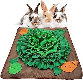20 英寸 x 20 英寸(约 50.8 厘米 x 50.8 厘米)兔子觅食垫兔子互动鼻涕垫*玩具宠物慢喂食器羊毛垫*分配器适用于狗狗、豚鼠、Chinchillas 雪貂、小动物