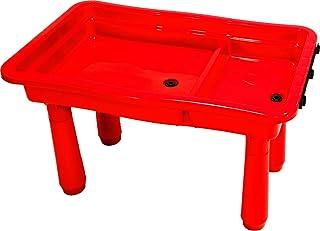 沙桌,泥盆 - 游戏桌 红色 带 2 个浴缸