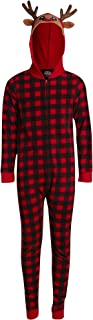 PJ's & Presents 男孩睡衣 - 圣诞连帽衫连体衣羊毛毯睡衣