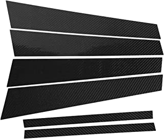 Akozon 车窗 B 柱装饰盖碳纤维车窗 B 柱装饰贴纸适用于宝马 3 系列 E90 2005-2012