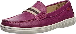 MARC JOSEPH 纽约儿童男孩/女孩皮革弹性生长增益乐福鞋