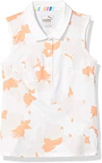 PUMA Golf 2020 女童花卉无袖 Polo 衫