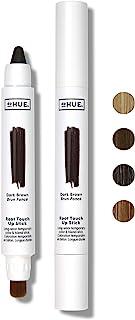 dpHUE 根部修补棒,深棕色 - 临时*和混合刷棒 - 瞬间,自然外观的灰色根覆盖 - 易于粘贴 - 持久防汗*