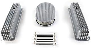 Vintage Parts 333846 SBC 15 英寸(约 38.1 厘米)全椭圆/高中心螺栓翅片发动机装扮套件~孔无*,1 件装