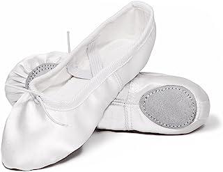 GetMine 女童缎面芭蕾舞鞋分离式鞋底练习体操芭蕾舞鞋 BA02