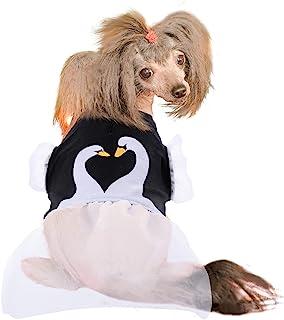 Dasior Dog 夏季连衣裙,适合中小型犬女孩的可爱裙子,猫衣服黑色 M 码