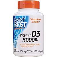 Doctor's Best Vitamin D3 5000IU, Non-GMO, Gluten Free, Soy F…