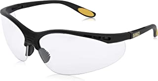 DEWALT REINFORCER 双焦点清晰透镜高性能防护安全眼镜,带橡胶边撑和超细纤维保护袋