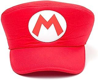 Meroncourt 任天堂*兄弟 带马里奥标志的形状帽子,均码,红色(Ha100502Ntn)平跟