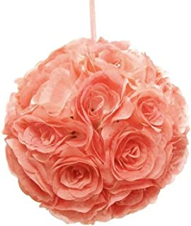 Pomander Flower Balls Wedding Centerpiece, 10-inch 珊瑚色 10 英寸