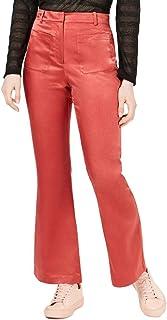 MOON RIVER 女式缎面贴袋裤子,玫瑰色