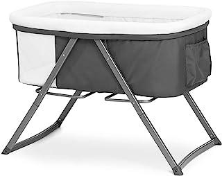 Hauck Dreamer 婴儿摇篮/婴儿车/茶几/旅行床,包括床垫和玩具袋,带摇摆功能,折叠,可折叠,可携带 灰色