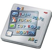 HABA 305049 – 磁铁游戏盒 字母 带 4 个背景图片和许多磁性拼图零件 用于学习字母表 适合 5 岁以上儿童