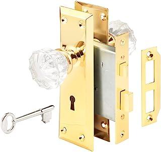 带玻璃把手的锁套装 亮黄铜色(Polished Brass) E 2311