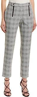 BCBGMAXAZRIA 女式直腿千鸟格裤