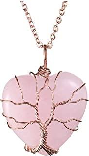 jovivi 镀银可爱大象* Chakra 宝石颗宝石*吊坠项链,不锈钢链