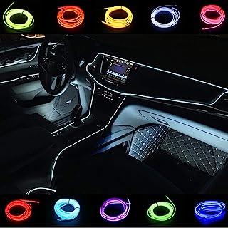 汽车装饰 El Wire 白色绳灯 汽车套件 3 米/9 英尺霓虹灯 行车灯 行车灯 仪表板霓虹灯 汽车 LED 灯条(3 米,白色)