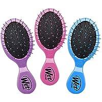湿梳子迷你梳子,粉色/紫色/蓝色,3 件装