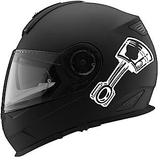 """活塞卡通剪影汽车赛车摩托车头盔贴花 - 12.7cm 5 """"英寸 白色 SP-DECAL-HELMET-00030[White]"""