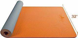 Hatha 瑜伽大号 TPE 瑜伽垫 - 182.88 厘米 x 81.28 厘米 x 0.64 厘米 - 环保 SGS 认证 - 防滑垫带便携袋,适用于家庭健身房、普拉提和地板户外锻炼