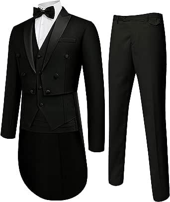 MAGE MALE 男式西装修身 5 正装婚礼燕尾服男式绅士套装