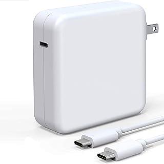 61W USB C 充电器电源适配器,笔记本电脑 Mac Book Pro 充电器兼容 Mac Pro 13/12 英寸、Mac Air 13 英寸 2020/2019/2018,包括 6 英尺 USB C 充电线 (6.6 英尺/2 米) Y10