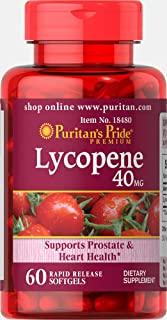 Puritan's Pride 普丽普莱 番茄红素速释软胶囊补充剂,40毫克,支持男性器官和心脏**,含有抗氧化特性**,60片