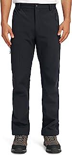 CAMEL CROWN 男式冬季雪裤防水保暖羊毛衬里保暖软壳裤带多口袋