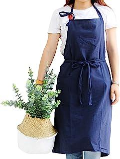 女式和男士棉质围裙,烹饪厨房厨师围裙