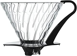 Hario VDG-03B V60 03 Glass Coffee Dripper, Black