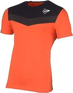 Dunlop 中性 72245-M Essential Line T 恤,亮橙色/煤黑色,M 码