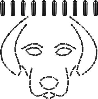 100 件宠物爪项圈套狗爪训练项圈尖乙烯基舒适橡胶套适用于宠物狗爪项圈增加舒适度,黑色(3.5 毫米)