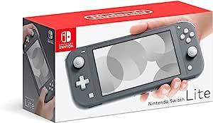 Nintendo 任天堂 Switch Lite 游戏机,灰色,5.5 英寸触摸屏,内置加控制板,W/128GB Micro SD 卡,内置扬声器,3.5 毫米音频插孔
