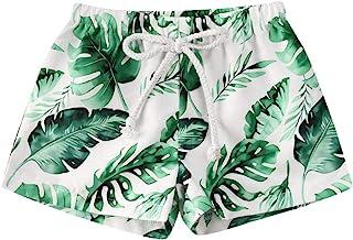 幼儿男婴游泳短裤椰子树叶印花游泳裤儿童男孩波浪泳装