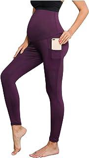 女式孕妇黑色礼服裤喇叭孕期瑜伽裤带口袋