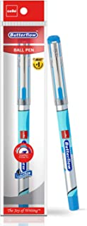 Cello 蝴蝶圆珠笔,带润滑墨水 10 支装 - 附赠补充包 蓝色
