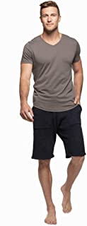 Barefoot Dreams Malibu 系列男式针织短袖 V 领 T 恤
